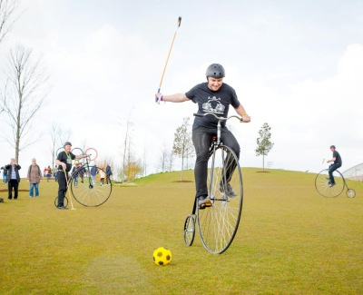 Penny Farthing Bicycle Polo