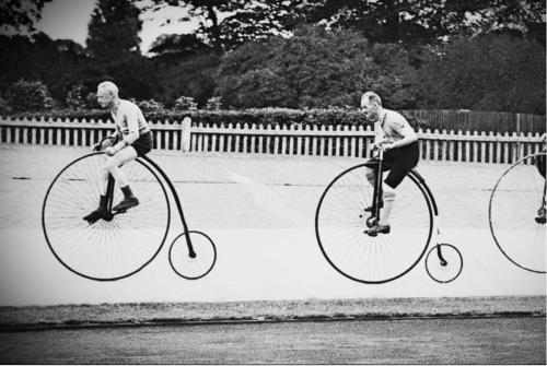 vintage penny farthing race