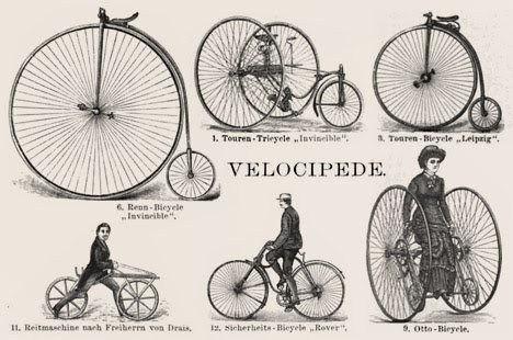 Early Velocipede Bicycles